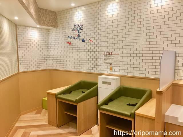 五反田東急スクエア授乳室のおむつ台