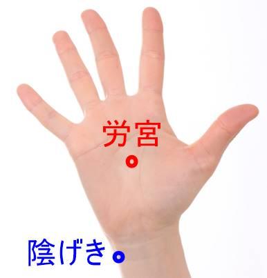 手汗のツボ 労宮 陰げき