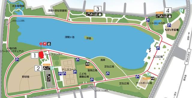 浮間公園 おむつ替えマップ