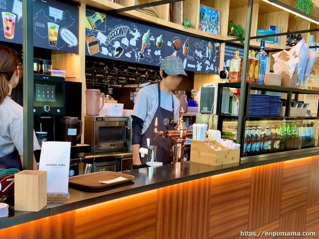 GLOBAL RING CAFE グローバルリングカフェ 注文カウンター