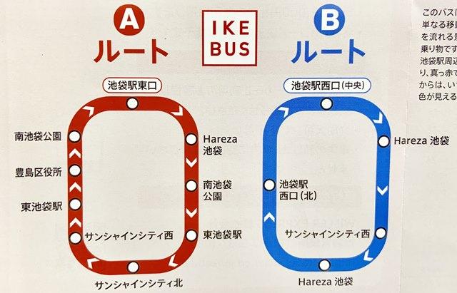 IKEBUS イケバスのルート