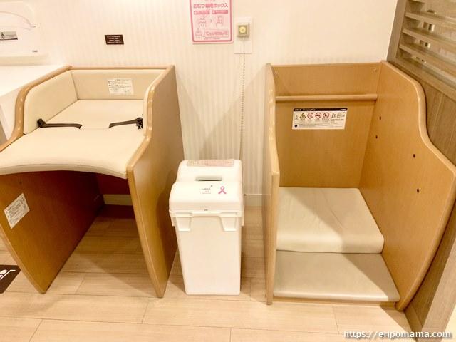 新宿高島屋 授乳室 着替え台