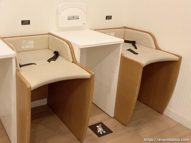 新宿高島屋 授乳室 おむつ台